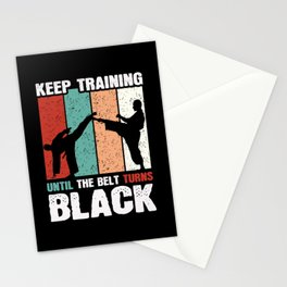 Black Belt Martial Arts Stationery Cards