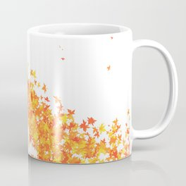 Maple Leaves on White Coffee Mug