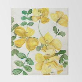 Butterflies and Blooms Throw Blanket