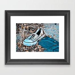Left Footed Framed Art Print