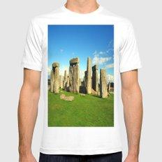 Stonehenge White MEDIUM Mens Fitted Tee