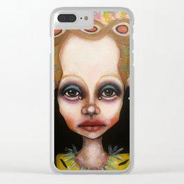 blue eyeshadow muksch Clear iPhone Case