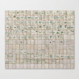The Complete Voynich Manuscript - Natural Canvas Print
