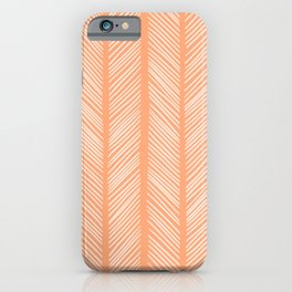 Cantaloupe Herringbone 2 iPhone Case