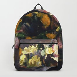 """Paul Cezanne """"Still Life with Flowers in an Olive Jar"""" Backpack"""