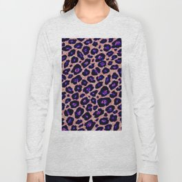 purple cheetah Long Sleeve T-shirt