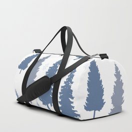 Pines and snowflakes pattern Duffle Bag