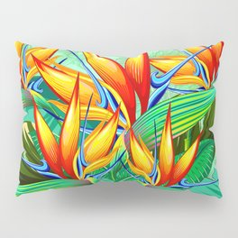 Bird of Paradise Flower Exotic Nature Pillow Sham