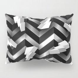 3D Lightning Bolt zig zag background Pillow Sham