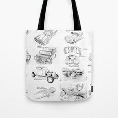 Sketched MovieRepliCars Tote Bag