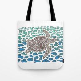 Vanishing Sea Turtle by Black Dwarf Designs Tote Bag