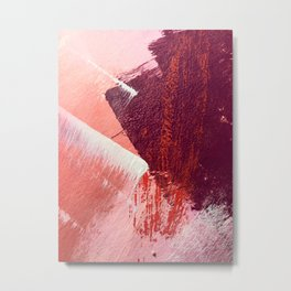 Sugar and Spice: a vibrant, minimal abstract pice in pink, red, and purple by Alyssa Hamilton Art Metal Print