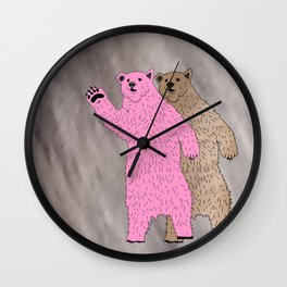Build A Bigger Bear, Catch a Load of Salmon Wall Clock