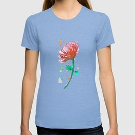 Warm Watercolour Fiordland Flower T-shirt