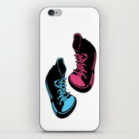 sneakers iPhone & iPod Skins featuring Sneakers by Cindys