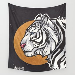 White Tiger Wall Tapestry
