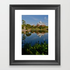 Flame Tree View Framed Art Print