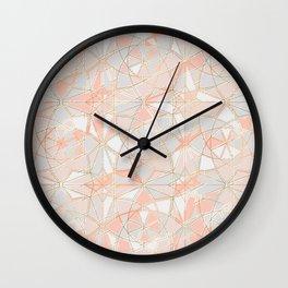 Pattern Rose Triangle Wall Clock