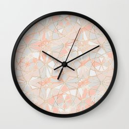 Pattern Rose Triangle Wall Clock
