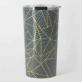 Ab Lines Gold and Navy Travel Mug