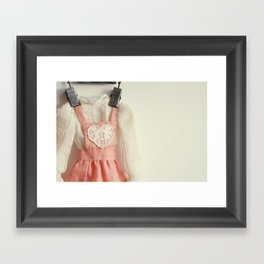 Doll Closet Series - Heart Dress Framed Art Print