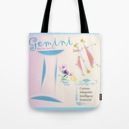 Gemini June Print Tote Bag