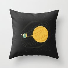 Death by Solar Flare Throw Pillow