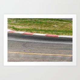sport track at the autodrome Art Print