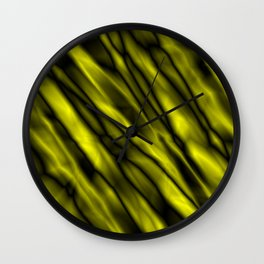 A bright cluster of yellow bodies on a dark background. Wall Clock