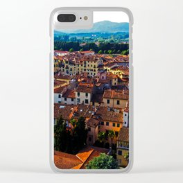View over Lucca, Italy. Clear iPhone Case