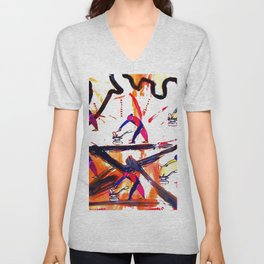 VERDI: The Anvil Chorus      by Kay Lipton Unisex V-Neck