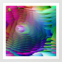 Ribbons of Dancing Rainbows Art Print