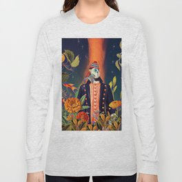 Floral Puffin Long Sleeve T-shirt