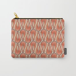 ALL the Salmon, Fish pattern on Peach Carry-All Pouch