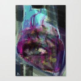 Cuore astratto Canvas Print