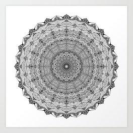 Mandala Project 626 | Black and White Lace Mandala Art Print