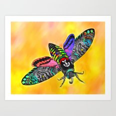 Goth Moth Art Print