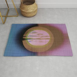 Midsummer Moon - Mid Century Modern Blush Watercolor Rug