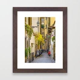 Street of Historic Center of Florence Framed Art Print