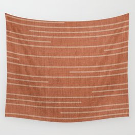 Geometric Art, Colorful Stripes Mudcloth, Terracotta Wall Tapestry