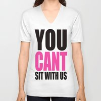 mean girls V-neck T-shirts featuring Mean Girls Quote by TurquoisedHearts