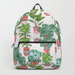 Terra Cotta House Plants Backpack