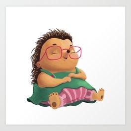 Ella the Hedgehog Art Print