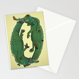 Lachryphagy - butterflies and crocodile tears Stationery Cards