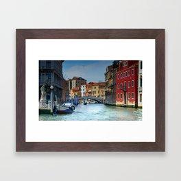 Venice Italy Canal Houses Framed Art Print