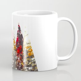 """Trees, Mountains, Flowers, Sun Vector Illustration V2"" Coffee Mug"