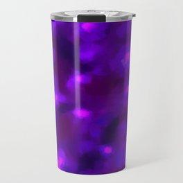 Ultra Violet Spring Floral Abstract Travel Mug
