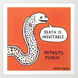 Memento Moray Art Print