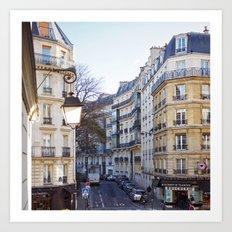 Streets of Paris. Art Print