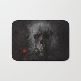 Skull with Rose Bath Mat